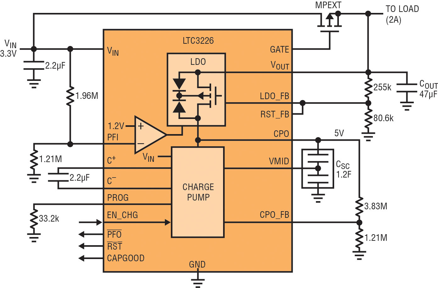 Single Ic Supercapacitor Based Power Supply Backup Solution Eenews Circuit Diagram