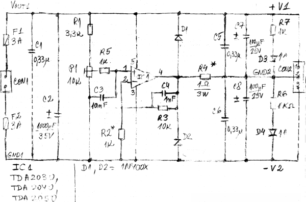 Simple PS voltage splitters based on audio amplifiers - Part 3