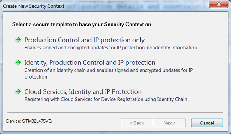 2. Designing security for a system starts with the Embedded Trust Wizard.