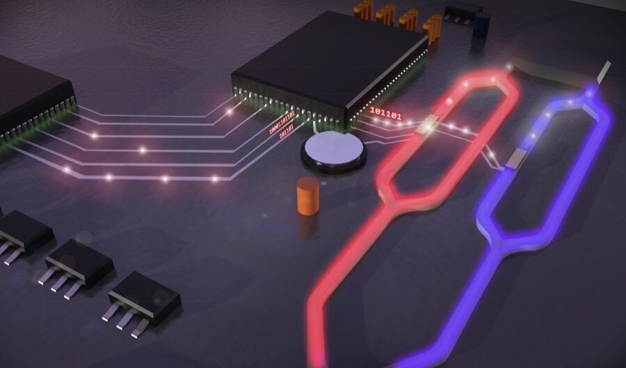 Micrometre-sized electro-optical modulator for silicon photonics