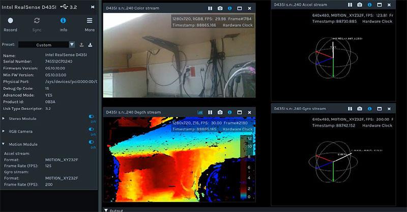 Intel RealSense 3D camera incorporates IMU