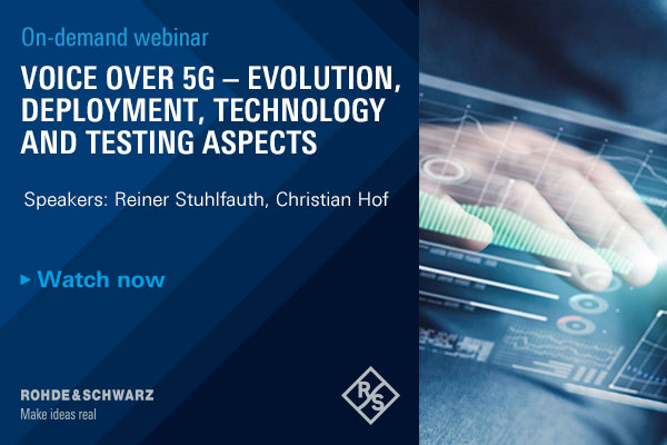 On-demand webinar: Voice over 5G – evolution, deployment, technology and testing aspects