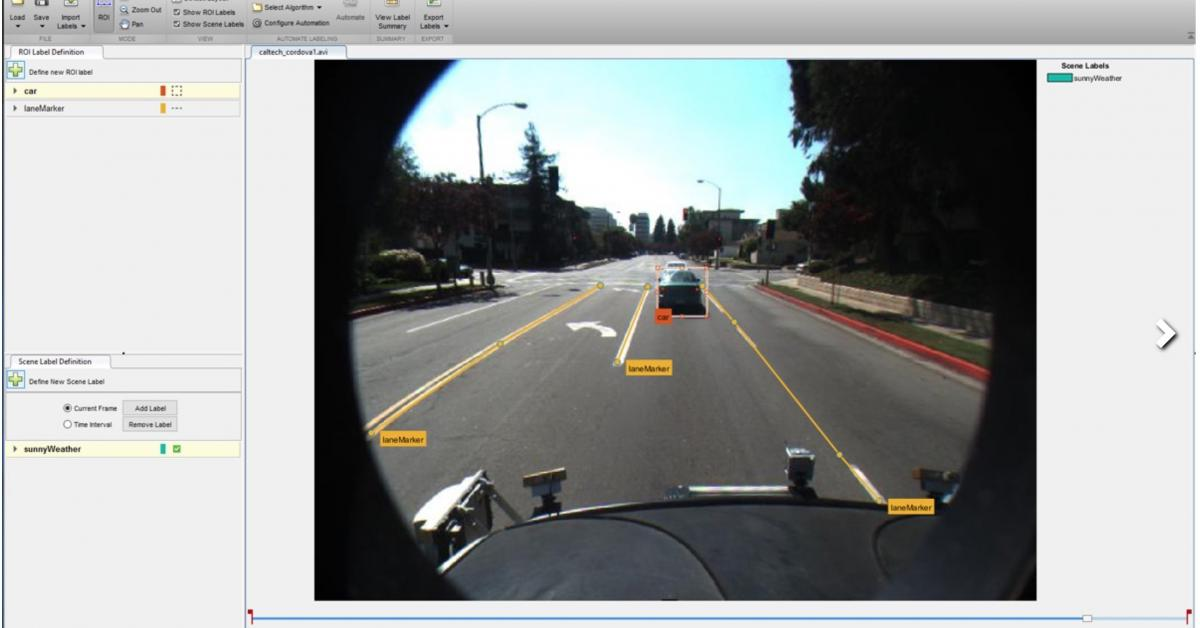 Matlab, Simulink get functions for autonomous driving and
