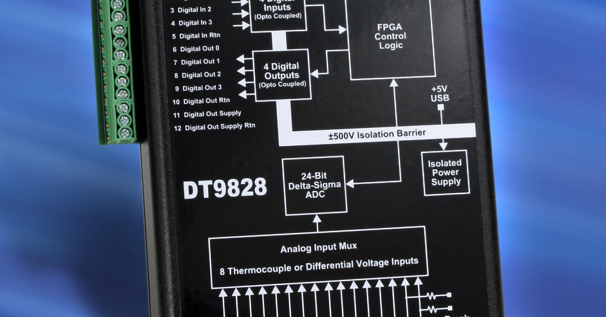 Thermocouple measurement module with 24-bit Delta-Sigma A/D