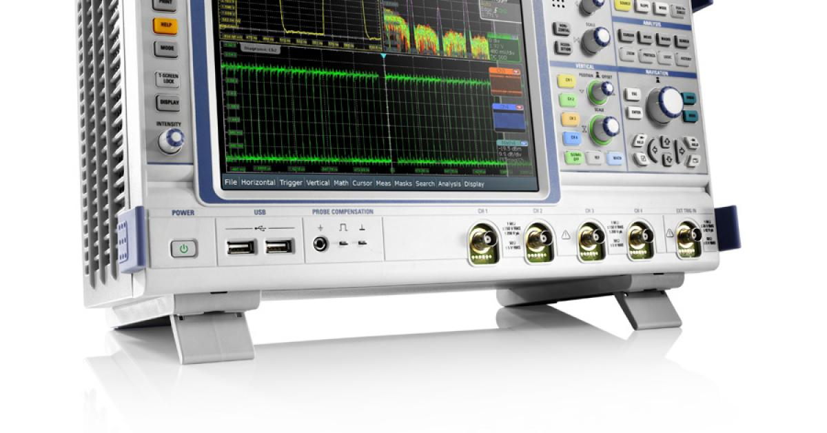 Oscilloscope covers 200 MHz to 1 GHz with fast acquisition rates