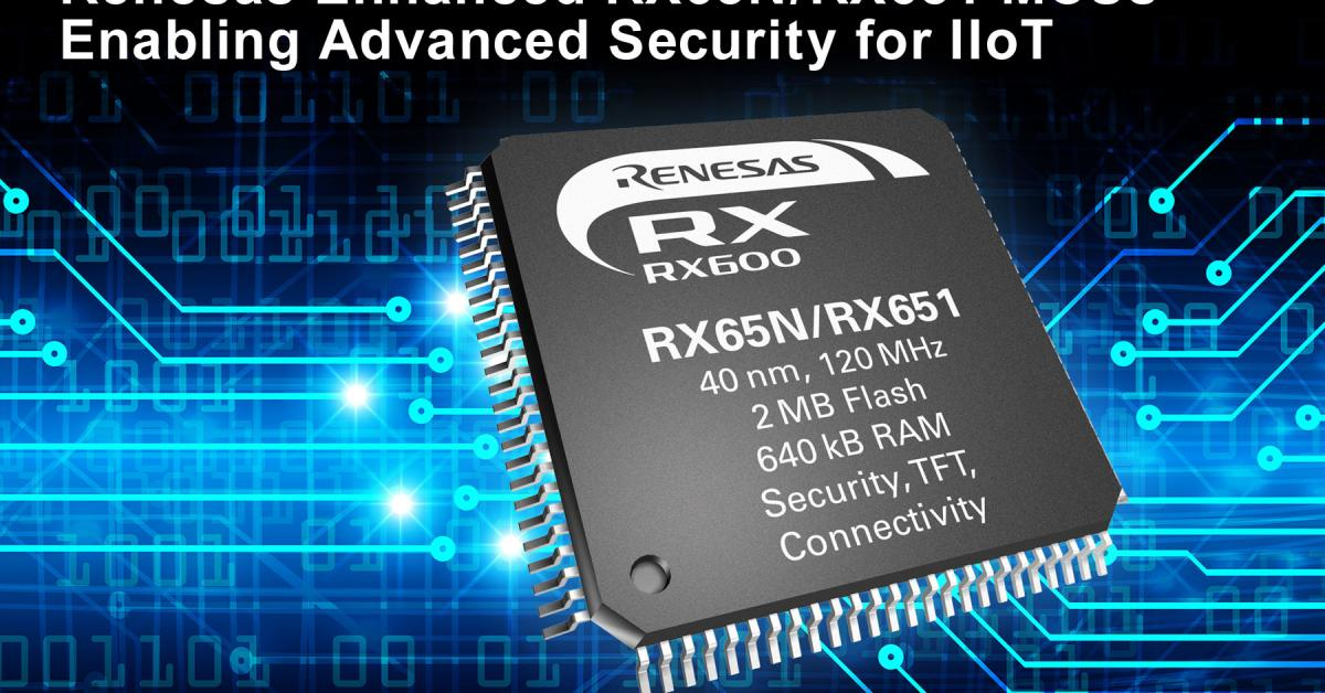 RX65N MCUs gets Amazon FreeRTOS qualification