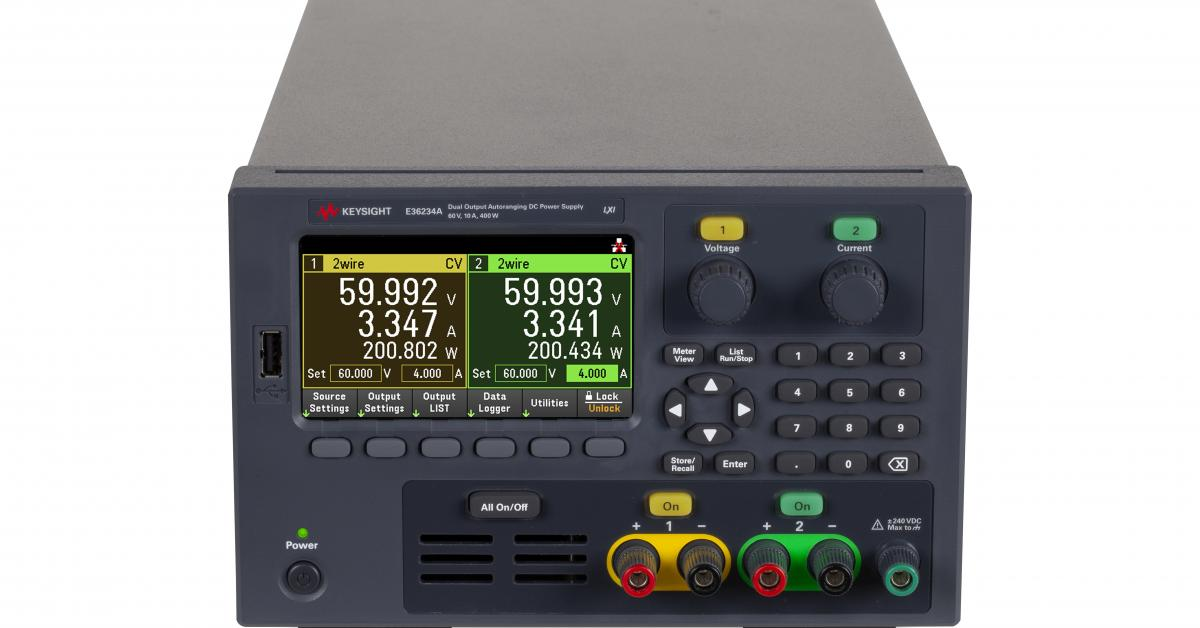 RS Components adds Keysight test power supply