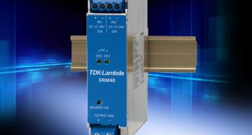 Compact DIN rail power modules target industrial markets