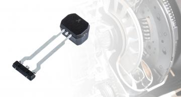 Back-biased GMR speed & direction sensor targets automotive transmissions