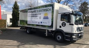 Solar panel project extends range of electric commercial vehicles
