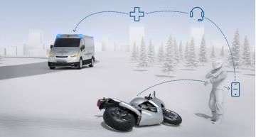 Bosch develops automatic emergency call for motorcycles