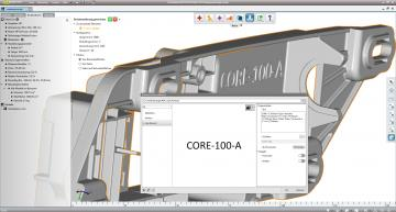 3D printing software labels components individually