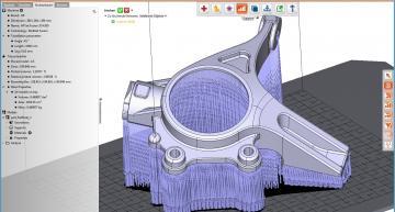 3D printing software generates STEP data