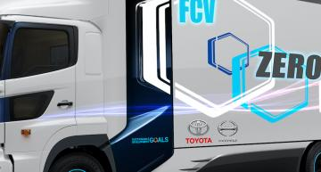 Toyota sends fuel cell trucks into practical test