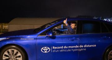 Toyota sets range record for hydrogen cars