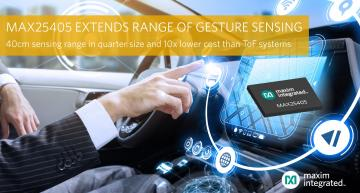 IR-based sensor recognises hand gestures from a distance