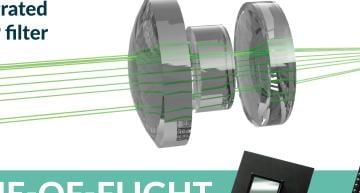 ToF sensor has QVGA resolution, integrated IR bandpass