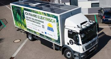Solar power supports battery of 18-tonne truck