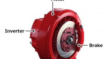 Hitachi shrinks in-wheel drive for compact EVs