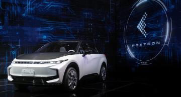 Foxconn debuts e-cars, plans vehicle software