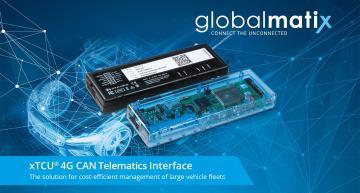 Telematics box monitors fleet car conditions