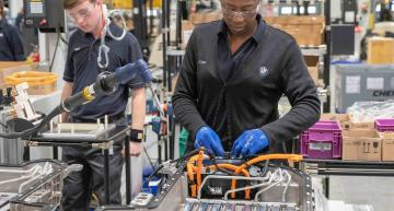 he BMW Group plant in Spartanburg, South Carolina, has doubled its capacity for the production of high-voltage traction batteries.