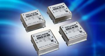"Wide range input 1"" x 1"" 15W and 30W dual output DC-DC converters have six-sided shielding"