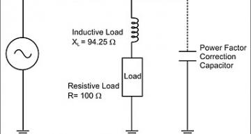 A parallel capacitor is added across the inductive load