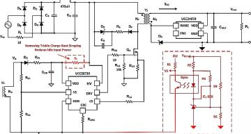 Schematic of an offline primary-side regulated flyback converter
