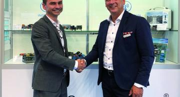 Luc Van de Perre, Sales and Marketing Director of VisiC Technologies and Peter Lutter, Managing Director of Finepower