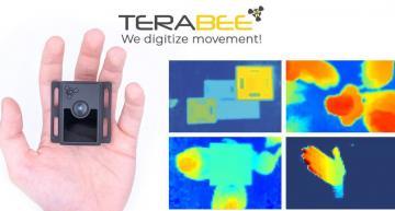 3D ToF camera delivers 80x60 pixels depth image