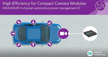 Ultra-compact automotive PMIC for vehicle camera modules