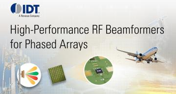 IDT RF beamforming ICs for phase array antennas