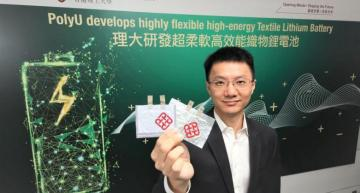 Flexible lithium battery for wearable electronics