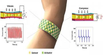 Wearable actuator/sensor patch adds touch to virtual, augmented reality
