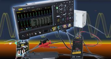 Rigol's MSO8000 digital oscilloscope offers bandwidths from 600 MHz, 1 GHz and 2 GHz (BW usable for 2 channel) and a maximum sampling rate of 10 GS/s.