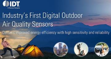 Digital outdoor air quality sensor for high-volume applications