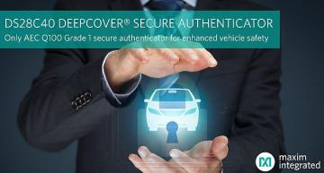 Automotive secure authenticator verifies genuine component use