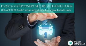 Automotive secure authenticator verifies genuine component use