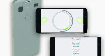 Blood pressure sensor designed into smartphones needs no cuffs nor calibration