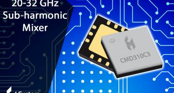 GaAs sub-harmonic mixer MMICs offer low conversion loss