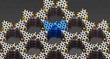 Synthetic porous material for supercapacitor technology