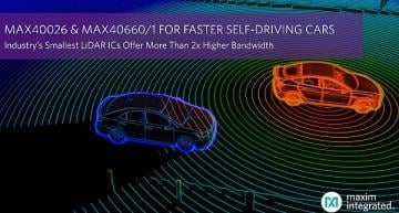 LiDAR ICs with 2x higher bandwidth for faster self-driving cars