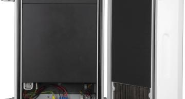 A pole-mounted server in an IP65 enclosure from Supermicro allows Intel processors, FPGAs and GPUs to provide 5G, AI or streaming at the edge of the network.