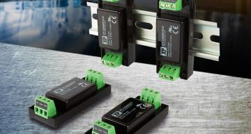 The DTJ15 and DTJ20 series of DC-DC converters from XP Power can be DIN rail or chassis mounted to provide 15W and 20W in rugged industrial designs.