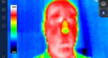 Thermal imaging smart glasses monitor body temps from a distance