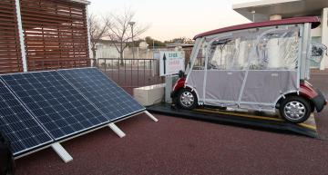 Daihen in Japan has demonstrated an e-mobility system that combines wireless charging from Witricity with solar power for electric carts