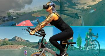 Indoor cycling VR fitness app opens to all speed, cadence sensors