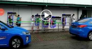 AI computer vision app monitors social distance