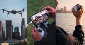 Smart AI camera doubles as drone